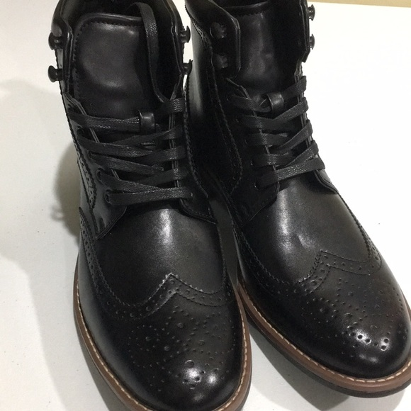 f447eb7a86f Men's ankles dress boots wing tip lace up leather